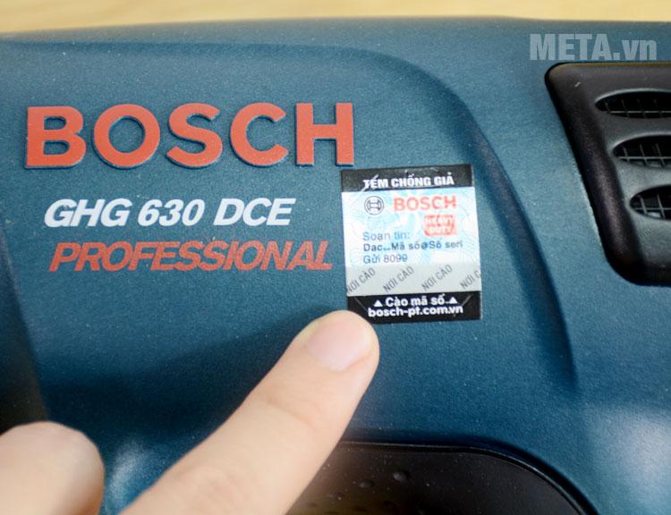 Tem chống giả máy thổi hơi nóng Bosch GHG 630 DCE