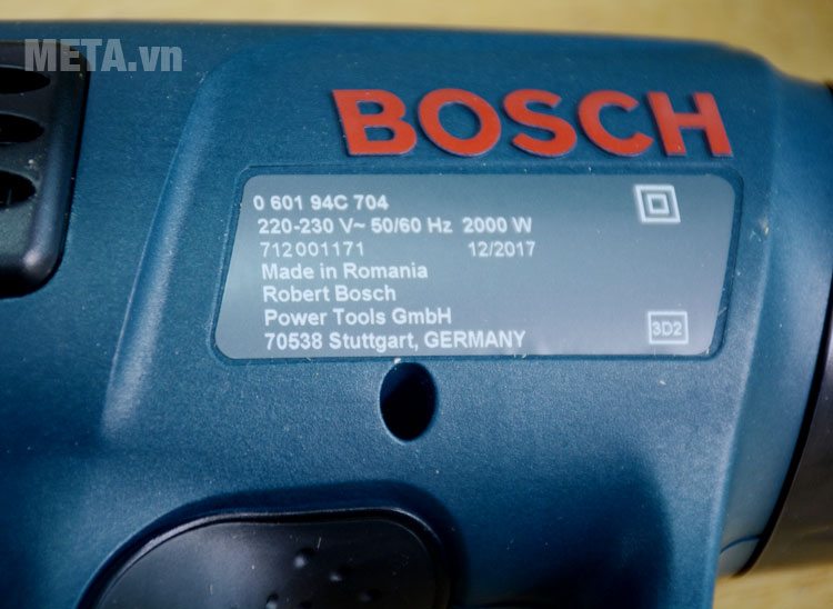 Thông số kỹ thuật máy khò hơi nóng Bosch GHG 630 DCE