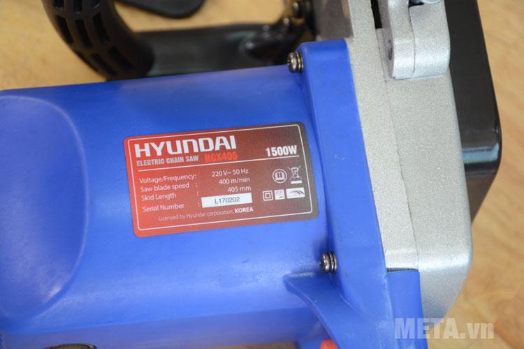 Công suất máy cưa cầm tay HCX405