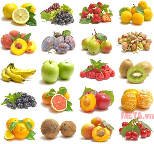 Các nguyên liệu để làm detox hoa quả khô