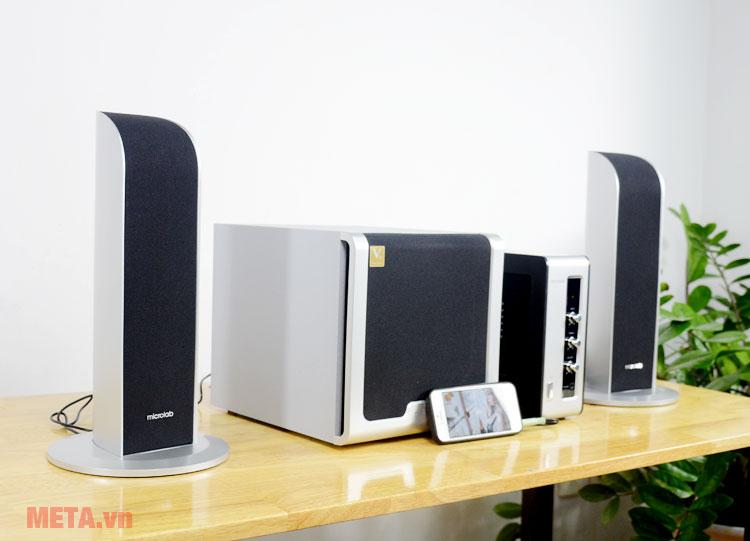 Bộ loa Microlab FC361 có khả năng kết nối với nhiều thiết bị điện tử