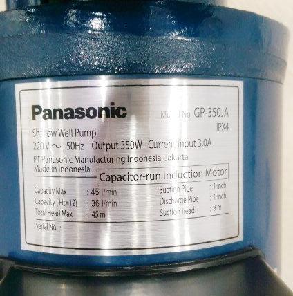 Thông số của máy bơm nước Panasonic GP-350JA