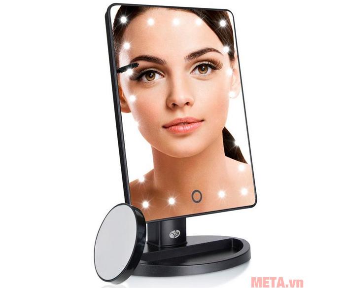 Top 5 gương trang điểm có đèn LED để bàn, gắn tường đẹp