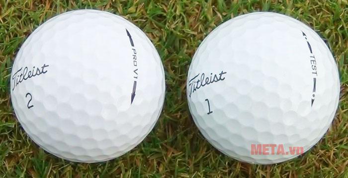 Bóng golf Titleist có thiết kế ấn tượng