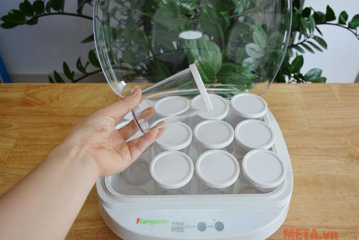 Các cốc đựng được làm từ chất liệu nhựa cao cấp