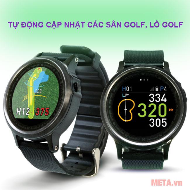 Đồng hồ Golf Buddy WTX tự động cập nhật hơn 38000 sân golf trên thế giới