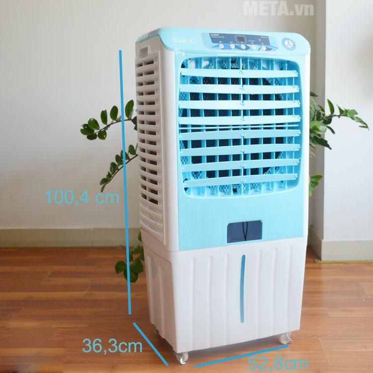 Kích thước của máy làm mát không khí Daikio DKA-04000A