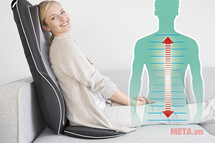 Sử dụng đệm massage