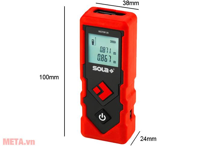 Kích thước máy đo khoảng cách