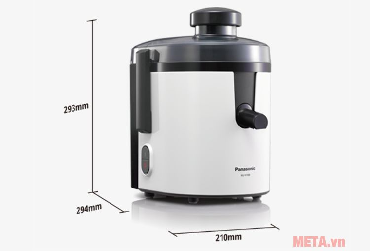 Kích thước máy ép trái cây Panasonic MJ-H100WRA