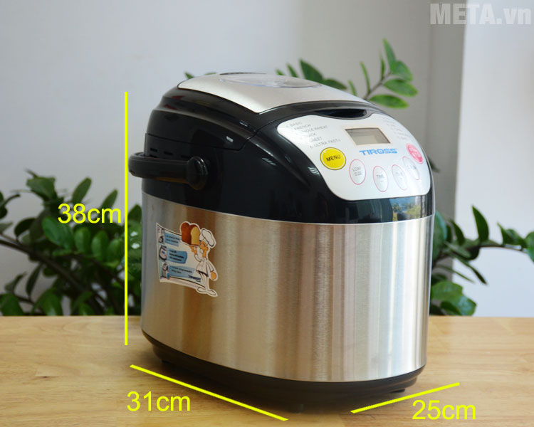 Kích thước của máy làm bánh mì 12 chức năng Tiross TS-821