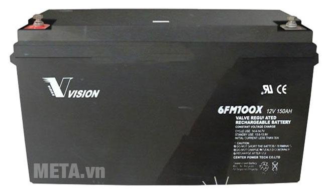 Ắc quy viễn thông Vision 100Ah công nghệ AGM