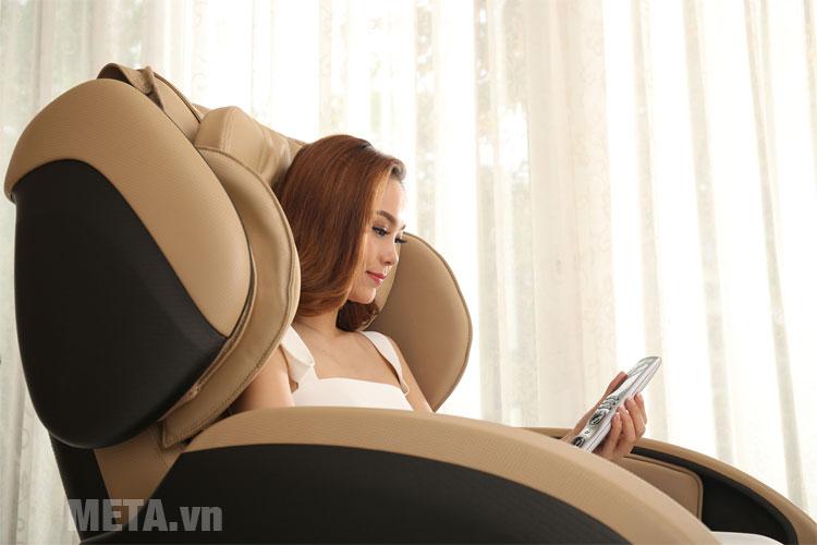 Ghế massage Tokuyo có màu sắc sang trọng, tinh tế