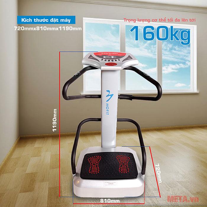 Kích thước máy rung massage