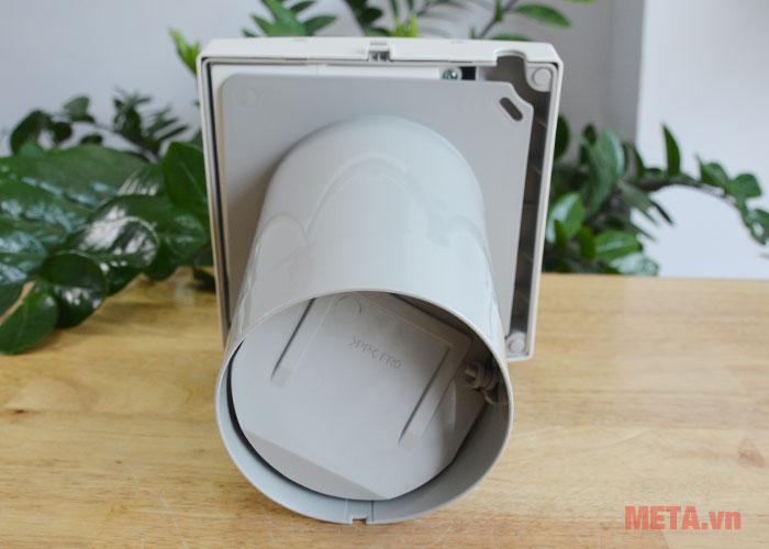 Quạt hút gắn tường với ống hút phía sau