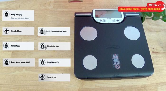Các chỉ số đo sức khỏe của cân sức khỏe