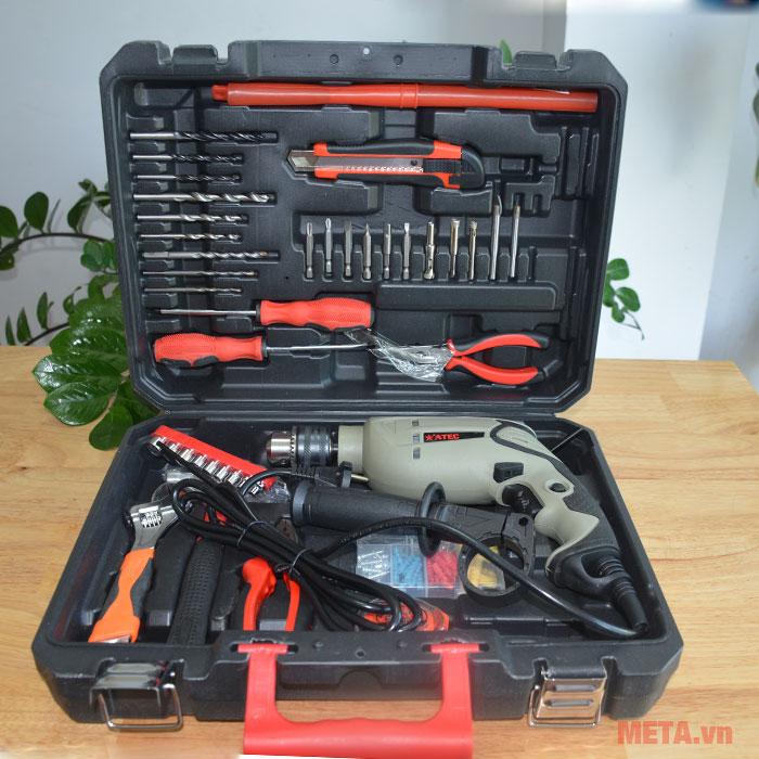 Máy khoan Atec AT7218 dùng cho gia đình và thợ sửa chữa chuyên nghiệp
