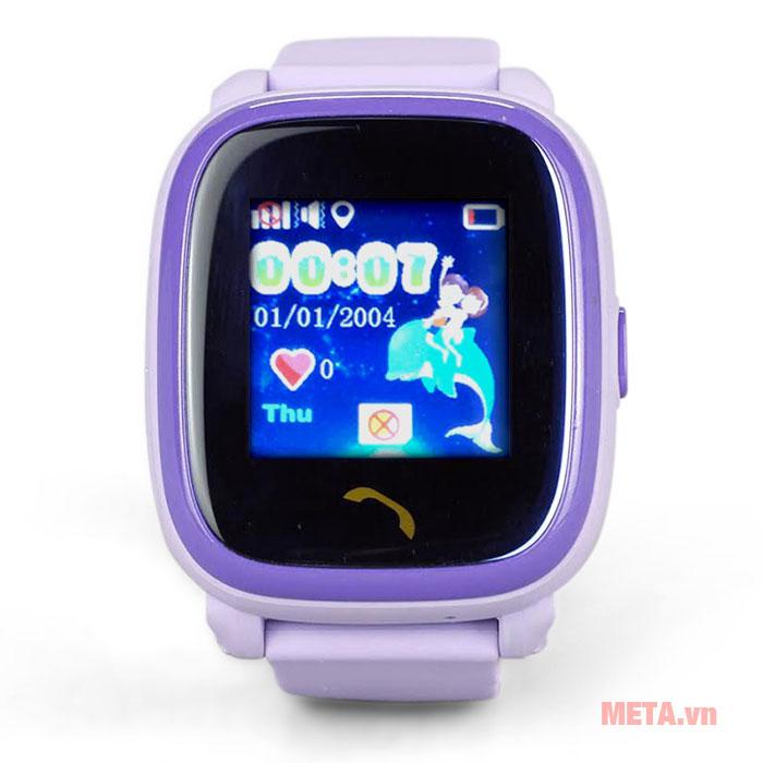 Đồng hồ định vị màu tím