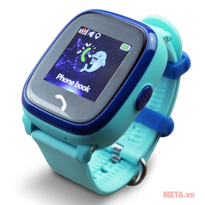 Đồng hồ định vị màu xanh