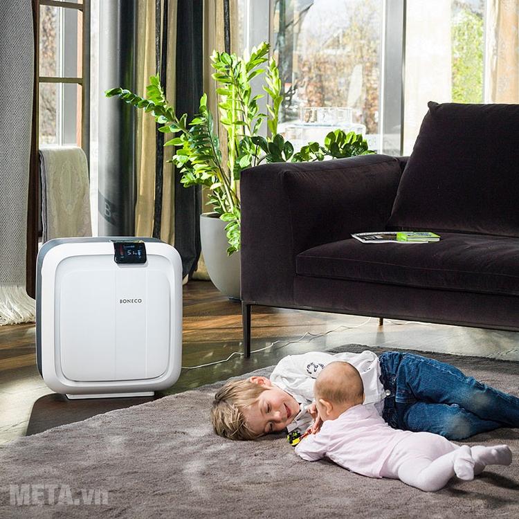 Máy lọc không khí Boneco H680 giúp lọc sạch bụi bẩn, vi khuẩn...