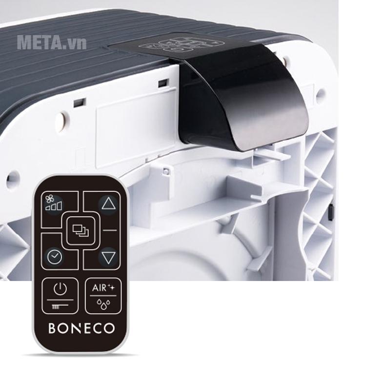 Máy lọc không khí và tạo độ ẩm Boneco H680 được trang bị điều khiển từ xa