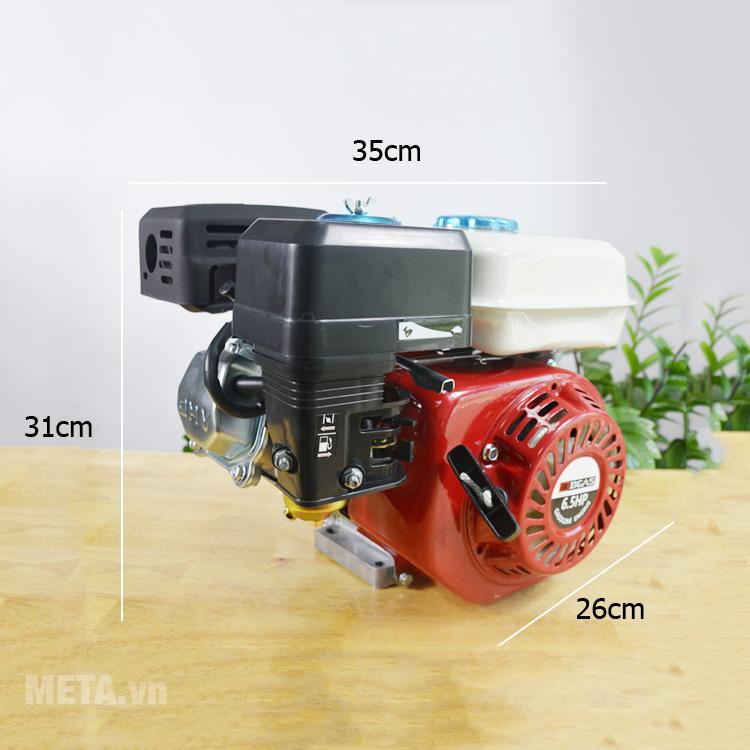 Kích thước máy nổ