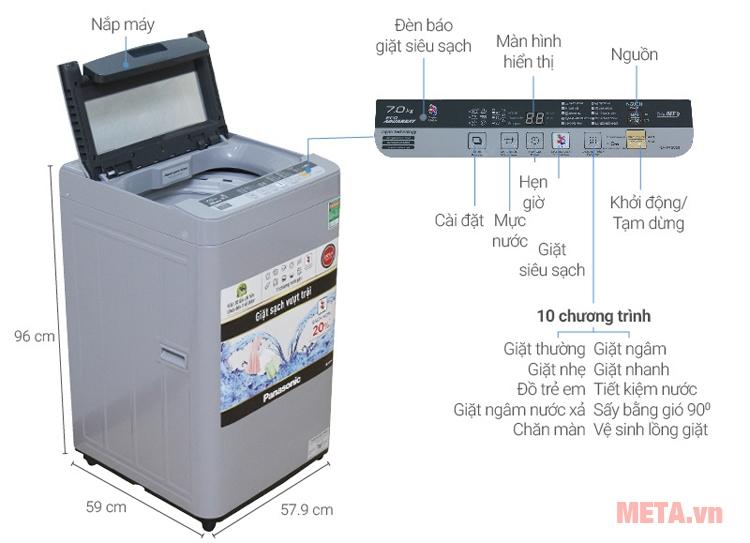 Máy giặt thiết kế gọn gàng