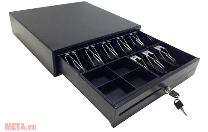 Ngăn kéo đựng tiền JY405 gồm 5 ngăn đựng tiền giấy và 5 ngăn đựng tiền xu