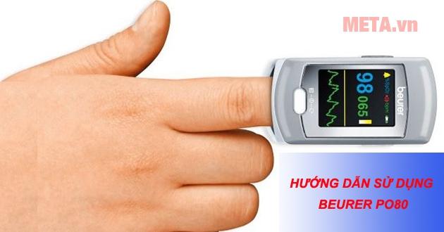Hướng dẫn sử dụng máy đo nồng độ oxy trong máu SpO2 và nhịp tim Beurer PO80