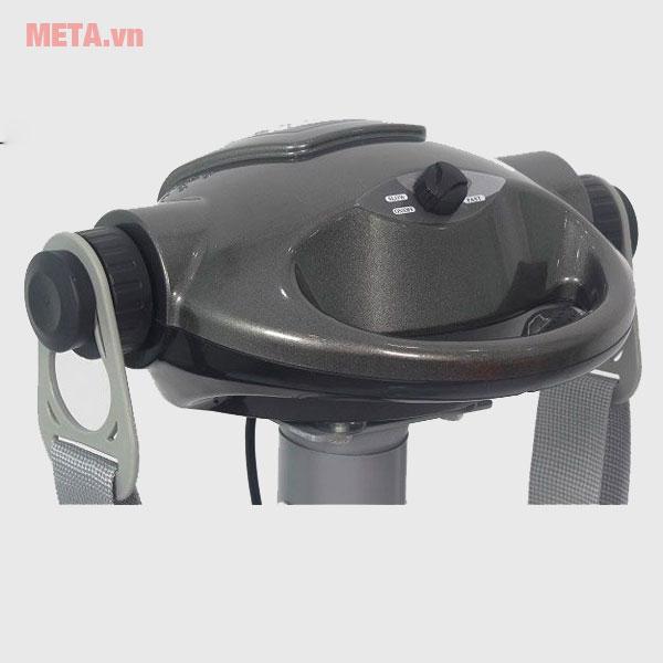 Máy rung bụng đứng với các nút điều khiển phía trên tiện lợi