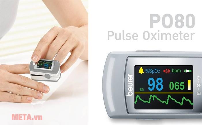 Cách sử dụng máy đo nồng độ oxy trong máu SpO2 và nhịp tim Beurer PO80