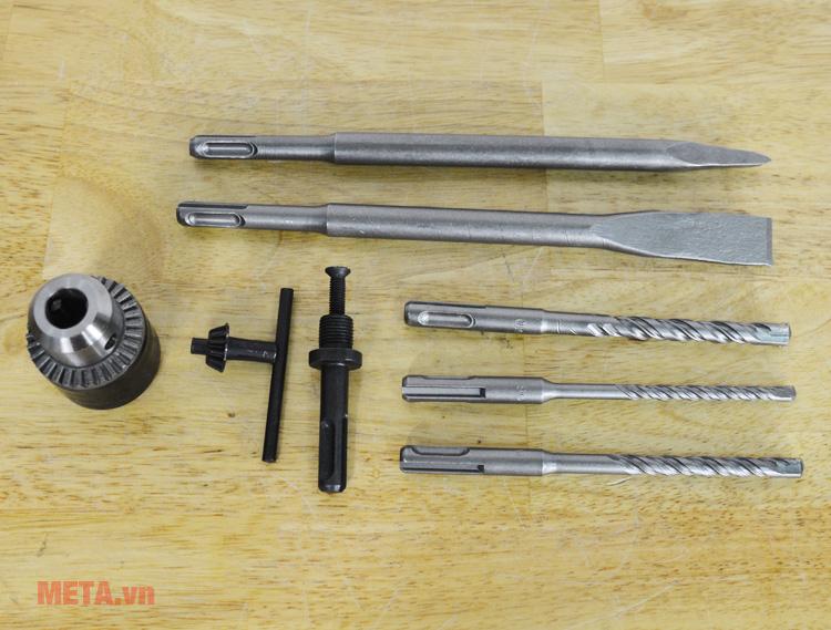 2 mũi khoan to của máy khoan bê tông FEG 2606SRE dùng để đục bê tông