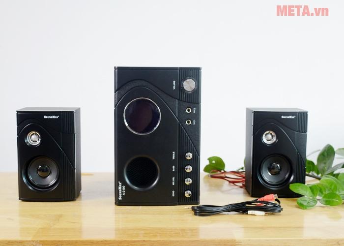 Bộ loa Soundmax A 2100/2.1 1 loa bass, 2 loa vệ tinh