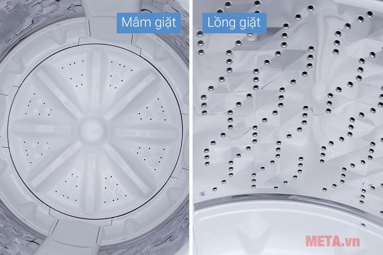 Máy giặt có mâm giặt nhựa