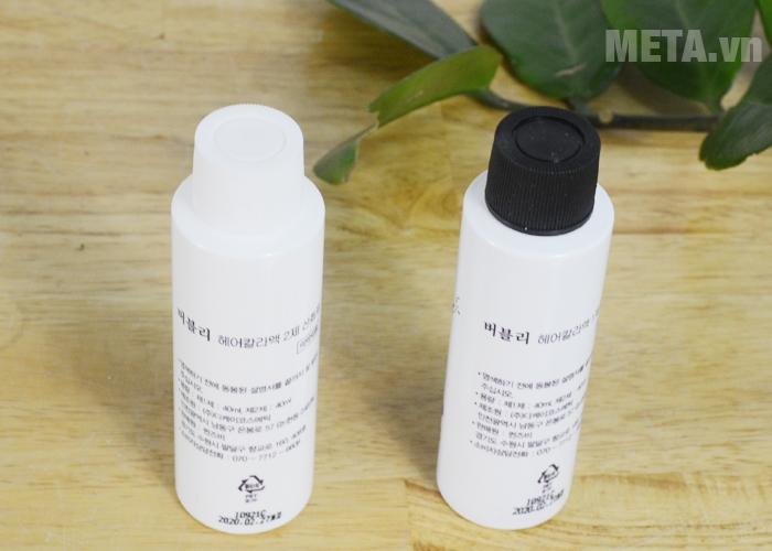Thuốc nhuộm tóc dạng bọt đen tự nhiên Hàn Quốc cho mái tóc đen mượt