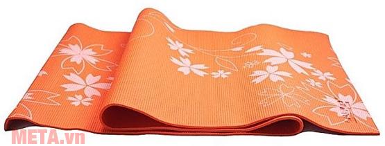 Thảm tập Yoga PVC hoa văn LS3231C màu cam