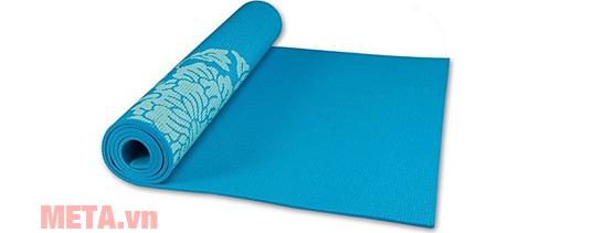 Thảm tập Yoga PVC hoa văn LS3231C màu xanh