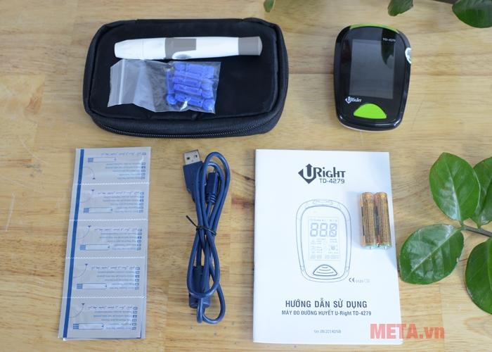 Trọn bộ máy đo đường huyết Uright TD-4279.