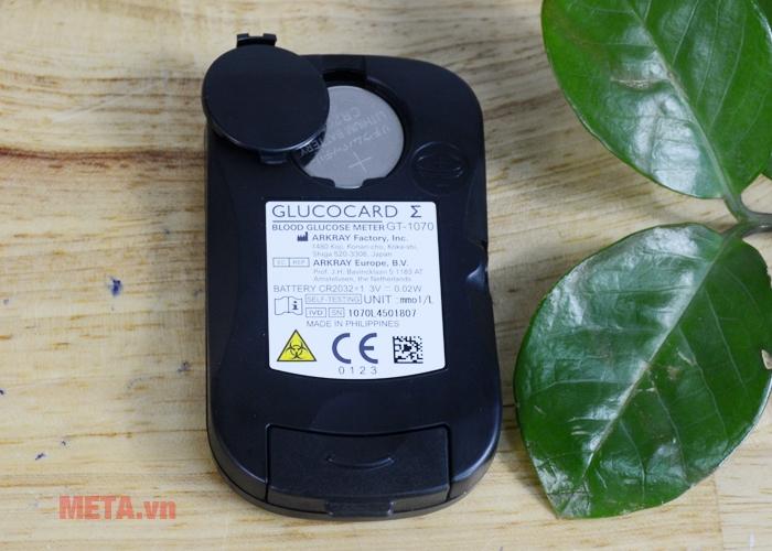 Khay chứa pin máy đo đường huyết cá nhân Glucocard ∑-1070
