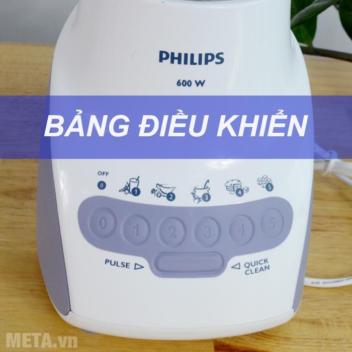 Bảng điều khiển máy xay sinh tố Philips HR2115