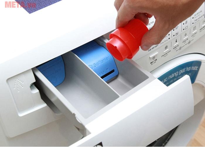 Khay chứa bột giặt và nước xả