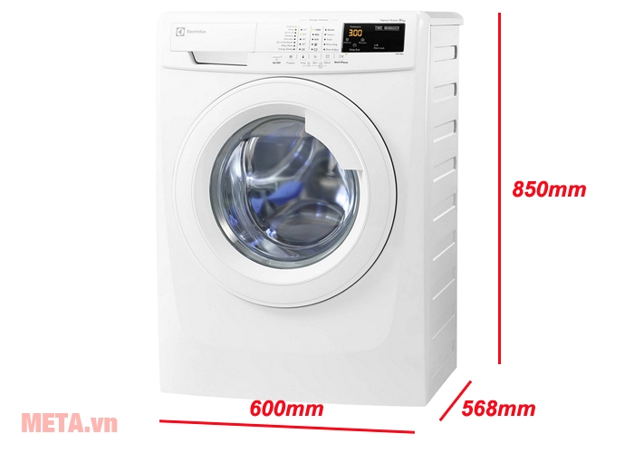 Kích thước máy giặt cửa trước 7kg Electrolux EWF80743