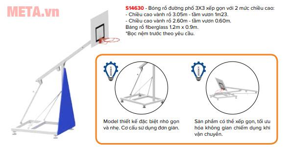 Hình ảnh trụ bóng rổ BS 8860