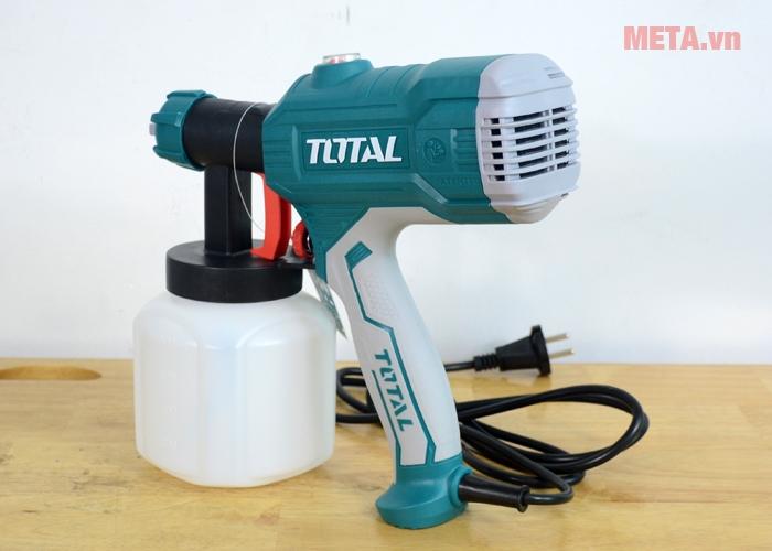 Máy phun sơn Total TT3506 có thiết kế nhỏ gọn, tiện lợi