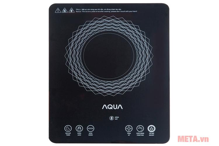 Bếp hồng ngoại cảm ứng Aqua có mặt kính chịu lực tốt