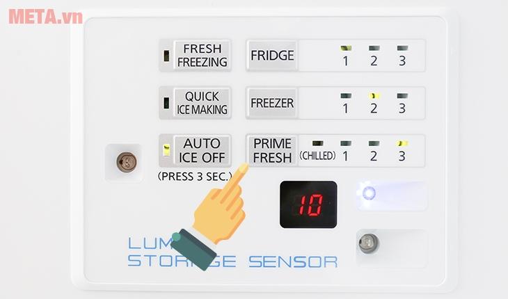 """Nhấn nút """"Prime Fresh"""" để chọn chức năng cấp đông mềm"""