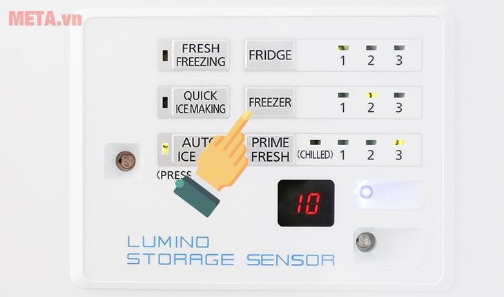 """Ấn nút """"Freezer"""" để điều chỉnh nhiệt độ ngăn đông"""