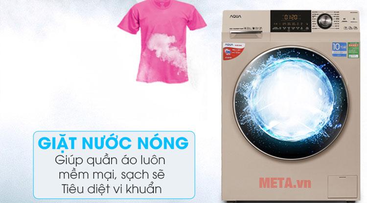 Inverter Aqua AQD-DD1000A trang bị chức năng giặt nước nóng