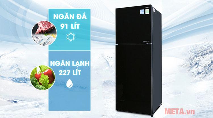 Tủ lạnh Inverter Aqua AQR-IG356DN (GBN)