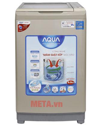 Máy giặt lồng đứng Aqua Inverter AQW-DW90AT có thiết kế hiện đại
